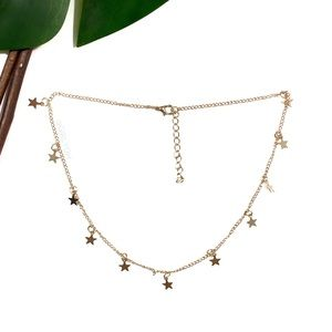 Gold Star Choker Boho Necklace